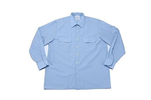 A. Blöchel Originales langärmliges oder kurzärmliges Diensthemd der Deutschen Bundeswehr Securityhemd Farbe Hellblau Größen 2-7 (3 (39/40), Langarm)