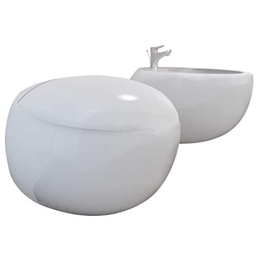 Set de Inodoro & Bidé Pared Colgada Blanco Cerámica