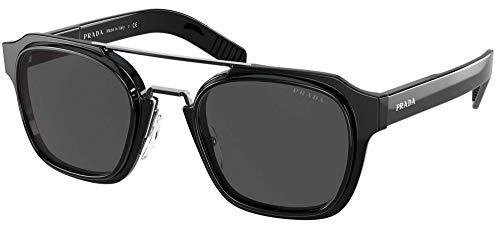 Prada Gafas de Sol PR 07WS Black/Grey 50/23/145 hombre