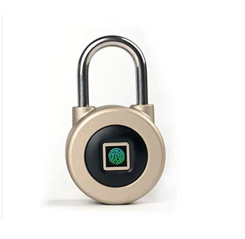 Gangkun vingerafdruk hangslot Smart Bluetooth elektronische blokkering draagbare kleine blokkering slaapkamer wachtwoordblokkering studentenhuis kastdeurslot goud