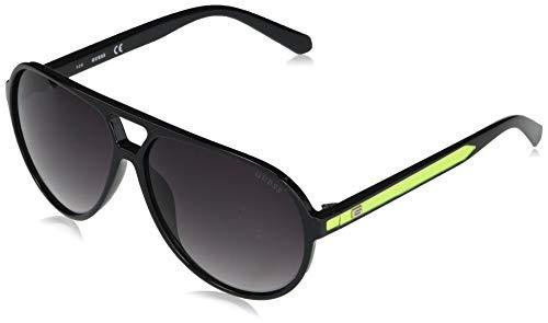 GUESS Factory - Gafas de sol de aviador de plástico, Plateado (Plateado), Small