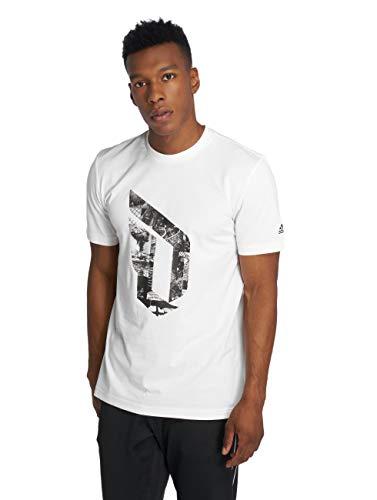 adidas Camiseta de Manga Corta para Hombre y Mujer, Color Blanco, Talla L