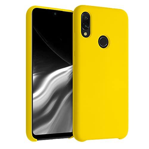 kwmobile Hülle kompatibel mit Xiaomi Redmi Note 7 / Note 7 Pro - Hülle Handyhülle gummiert - Handy Hülle in Vibrant Yellow