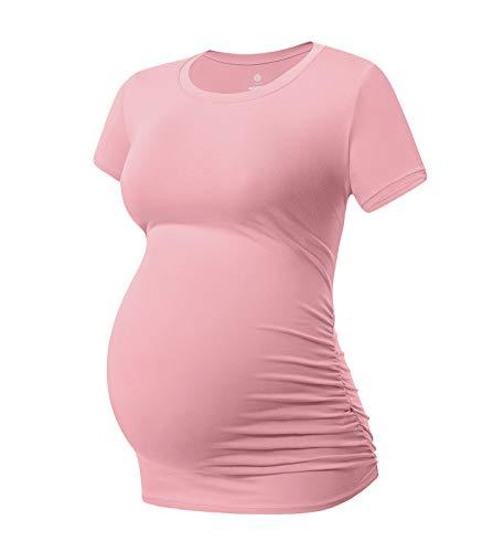 LAPASA Donna maternità Maglietta Allattamento a Maniche Corte T-Shirt Super Soft L55