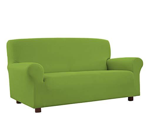 Banzaii Funda Sofa 2 Plazas Verde Claro– Elastica Antimanchas – Extensible de 100 a 150 cm - Made in Italy