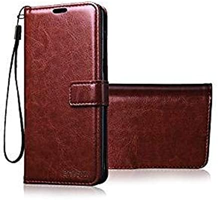 Bracevor OnePlus 3 / One Plus 3T AUTO Sleep Wake Flip Cover Case Leather | Inner TPU | Foldable Stand | Wallet Card Slots - Executive Brown