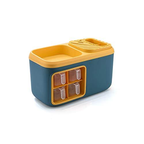 LRHD Escritorio simple color sólido plástico de varias capas Estante, Condimento Utensilios de cocina grande de escritorio pequeño hotel de sal Inicio cuchillos y tenedores de cocina Utensilios de alm