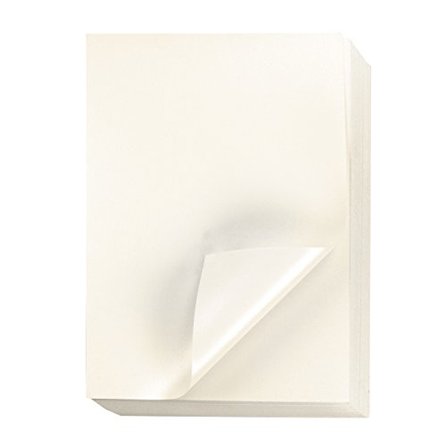 Metallic Shimmer Paper Sheets for Crafting (8.5 x 11 Inches, Ivory, 96-Pack)