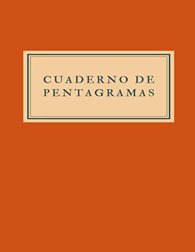 Cuaderno de pentagramas: Cuaderno de música con 5 pentagramas por página sin clave, 100 páginas. (Cuadernos con pentagramas para el estudio de la música)
