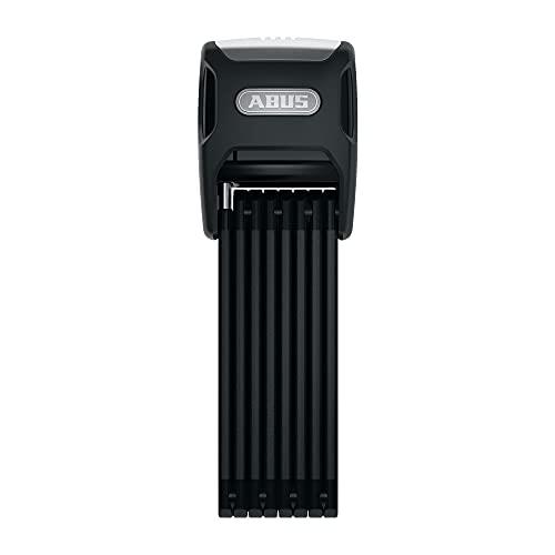 ABUS Faltschloss Bordo Big Alarm 6000A/120 mit Halterung - Fahrradschloss aus gehärtetem Stahl mit Warnton - Sicherheitslevel 10 - 120 cm - 82533 - Schwarz