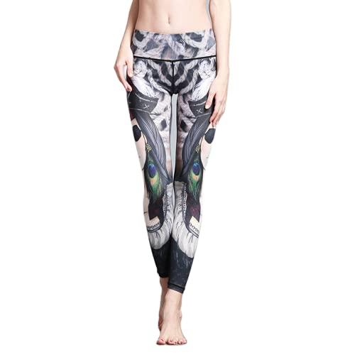 QTJY Pantalones de Yoga Impresos Fitness para Deportes al Aire Libre Europeos y Americanos, Leggings elásticos de Ejercicio Push-up DS