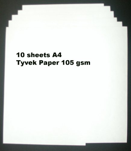 Tyvek, 105 g/m ², DIN A4 Packung, 10 Blatt