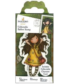 docrafts No. 43 Spring at Last Santoro's Gorjuss Rubber Stamp |