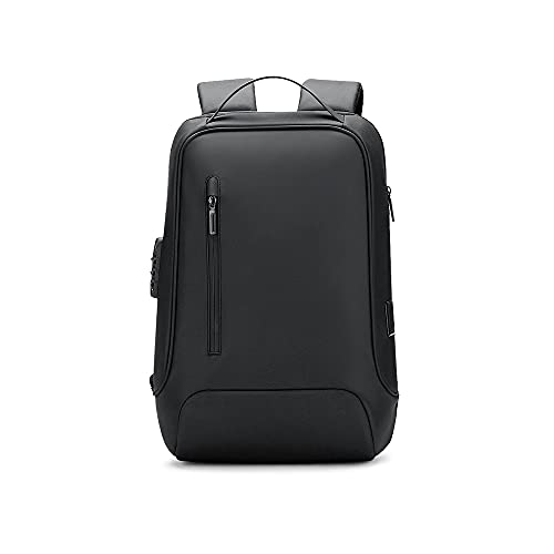 Kfhfhsdgsamsjb Mochila para Hombre, 15.6 Pulgadas Mochila portátil USB Carga de Negocios Viajes de Viaje Mochila Impermeable antirrobo