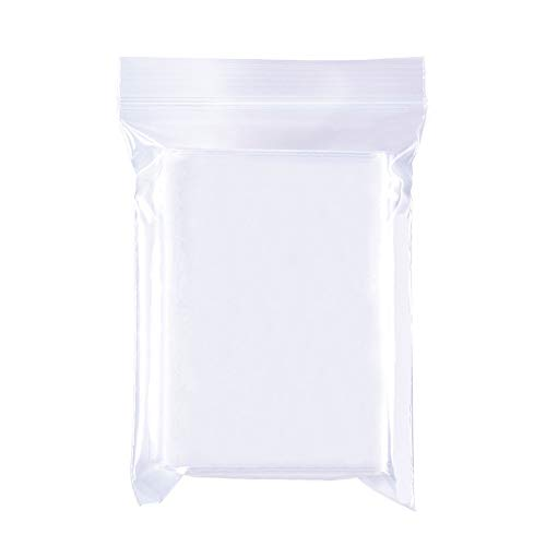 BENECREAT 200 Pack Bolsas Transparente Cierre 7x10cm