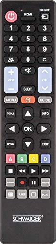 SCHWAIGER -5712-5 in 1 Ersatzfernbedienung/Universal-Fernbedienung/Remote Control/TV-Fernbedienung für alle Samsung, LG, Sony, Philips, Panasonic TV-Geräte