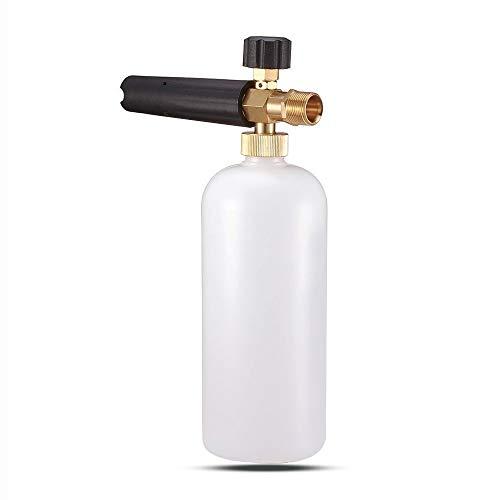 Schneeschaum Lanze schaumkanone Auto Wash Schaumlanze mit Verstellbarer Schaumstoff Düse, 1L Seifenspender Flasche und Faden Adapter für Hochdruckreiniger von KRANZLE, Himore usw