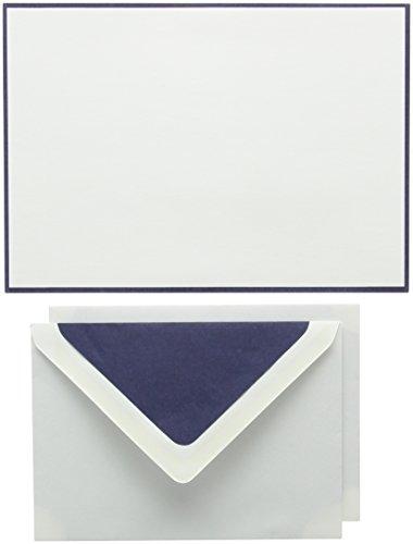 Original Crown Mill Silver Line A5Papier bicolor Schreiben Box Set mit Umschläge C6gefüttert, navy blau/weiß (25Stück Blatt)