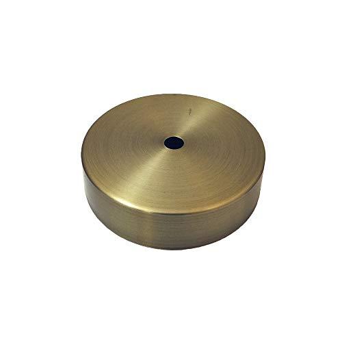 Edm Grupo 44381 Floron Metalico, Oro Viejo, Kit Montaje Incluido, 9.85cm, Dorado