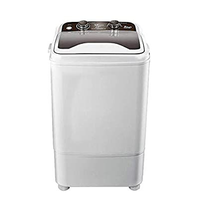 Portable Washing Machine 7KG Total Capacity Single Tub Wash And Spin Dehydration U~V deep cleaning Compact for Camping Dorms Apartments College Rooms,Black