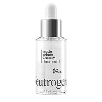 Neutrogena Shine Control Matte Booster Face Primer & Serum Skin-Mattifying Serum-to-Primer with Rice Protein Absorbs Excess Oil & Keeps Skin Shine Free 1.0 fl Oz