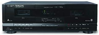 ION ITR01 Tape 2 PC Dual Cassette Converter/Player System Black