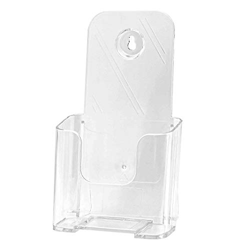 Deflect-o DocuHolder for Countertop or Wall Mount Use, 4-3/8 x 3-1/4 x 7-3/4 Inches, Clear (77501) (Clear, 4)
