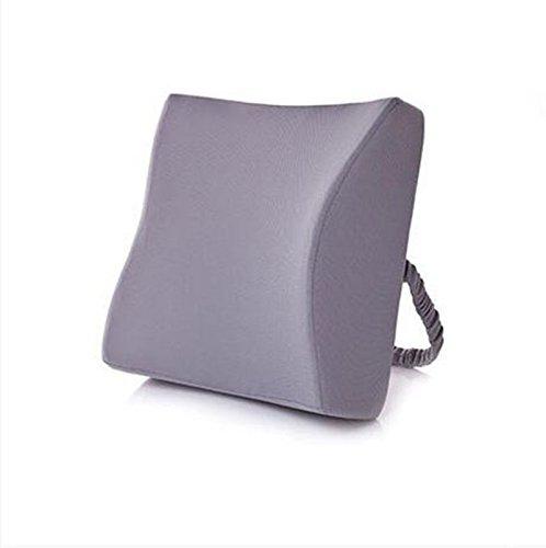 Dossier De Chevet Lumbar Coussin de chaise de bureau Coussin de canapé Coussin de dossier de lit Coussin lombaire Coussin lombaire (Couleur : Gris, taille : 35 * 33 * 12cm)