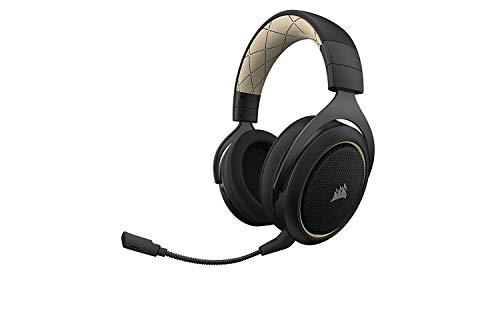 Corsair HS70 Kabelloses Gaming Headset (7.1 Surround Sound, mit abnehmbaren Mikrofon, für PC/PS4) Special Edition Beige (Generalüberholt)