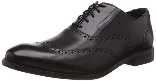 Clarks Edward Walk, Scarpe Stringate Derby Uomo, Nero (Black Leather-), 39.5 EU
