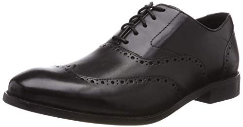 Clarks Edward Walk, Scarpe Stringate Derby Uomo, Nero (Black Leather-), 39.5 EU