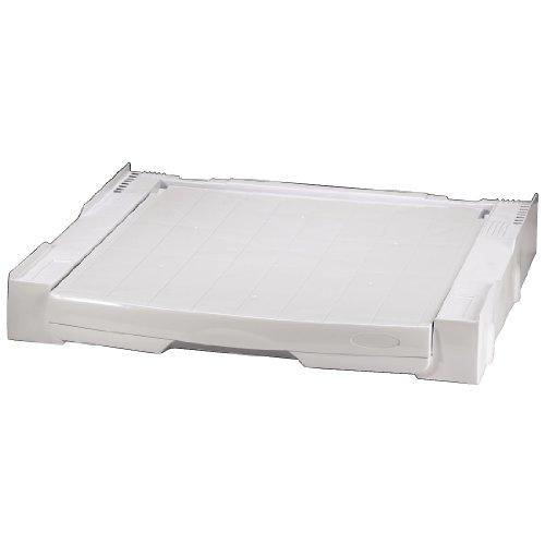 Xavax Zwischenbaurahmen für Waschmaschine/Trockner mit Ausziehplatte