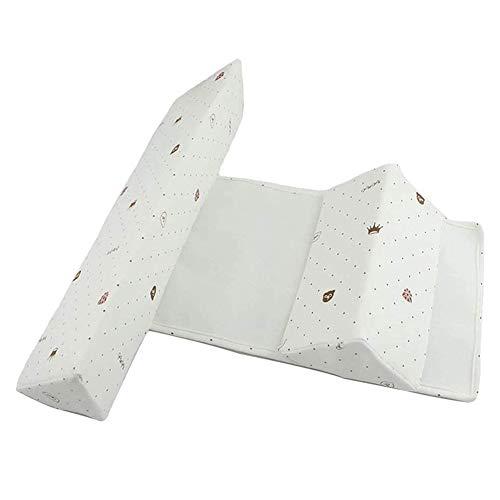 Aomier Baby Kissen Baby Side Schlafkissen Dreieck Seitenstützkissen für Babys Anti Plattkopf Kissen Reisebett für Baby und Säuglinge