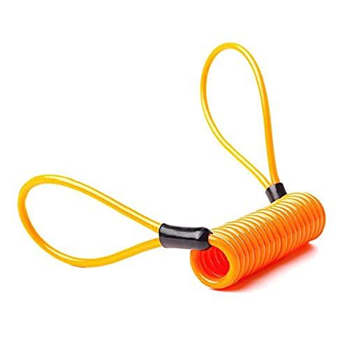 CHENMAO Cuerda antirrobo multifunción Estirado de Cuerda de Acero Delgada de Acero para Bicicletas Candado de Bloqueo de Equipaje de Bicicleta