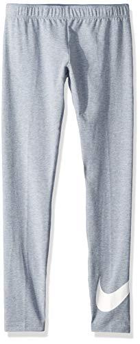 Nike Mädchen Favorites Swoosh Tights, Ashen Slate/Heather/(White), L