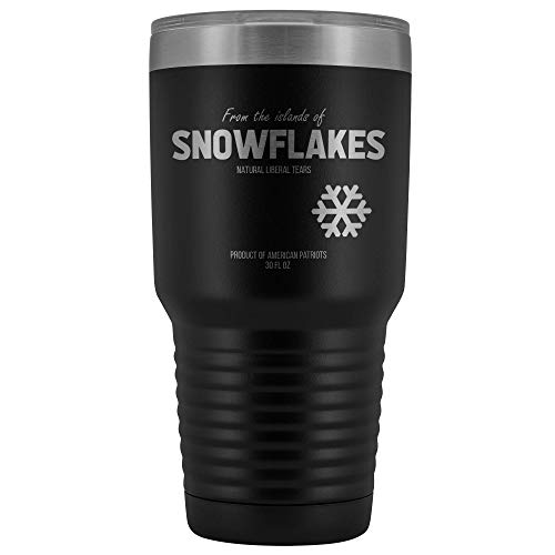 Liberal Snowflake Tears Stainless Steel Insulated 30 Oz. Tumbler With Lid