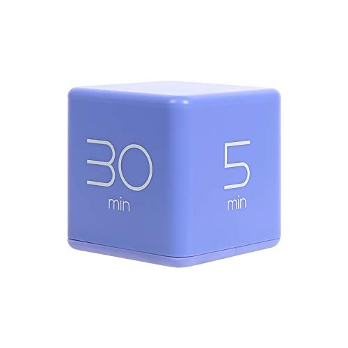 Cute Cube Timer - 5, 10, 20 and 30 Minutes Presets (Violet)