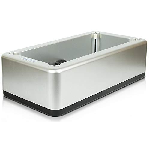 Goseare Copriscarpe Dispenser Macchina Automatica per la Copertura dello Stivale con Fibbia a T per ospedali Interni Home Shop Office Silver