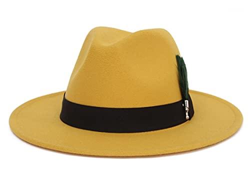 GEMVIE Sombreros Hombres de Fieltro Sombrero de Jazz Sombrero de Caballero de Invierno