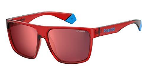 Polaroid PLD 6076/S Gafas de sol, Multicolor (Red), 60 para Hombre