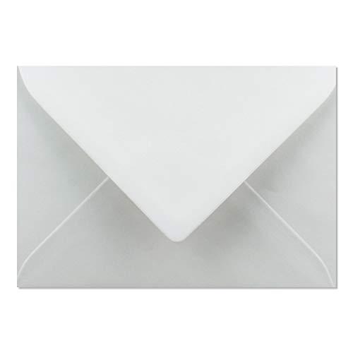 50x Briefumschläge DIN C6-11,2 x 16 cm - mit Nassklebung - Farbe: Weiss - Grammatur: 90 g/m² - Marke: NEUSER PAPIER
