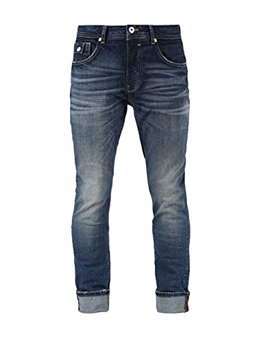 M.O.D. Herren Jeans Ricardo Regular Fit - Blau - Atlas Blue W28-W40 98% Baumwolle, Größe:32W / 32L, Farbvariante:Atlas Blue 3041