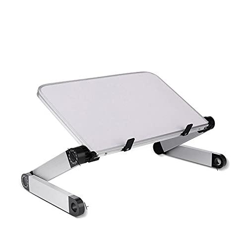 Klappbarer Kleiner Tisch Verstellbarer Laptop-Schreibtisch Für Bettsofa Tragbarer Klappbarer Computertisch Ergonomischer Notebook-Laptop-Ständer Kleines Tablett Weiß-M