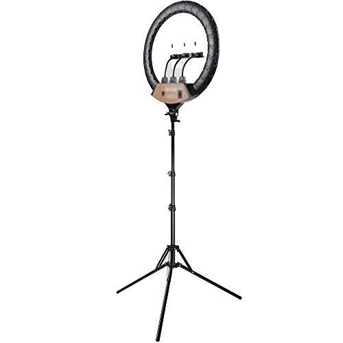 ZJING Anillo de luz con trípode 2M, Anillo de luz Selfie de 18 Pulgadas, 3 Modos de Color y 10 Brillos de luz led para Selfie, Youtube, Vlog, Maquillaje
