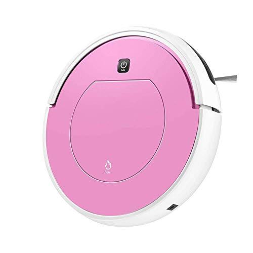 WZB Robot Aspirador, Robot de Limpieza automática para el hogar para alfombras limpias. El Limpiador de Pisos de Madera Dura BOT detecta Las escaleras súper silencioso (100-240 V), Rosa