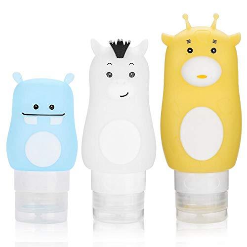 Conteneurs de lotion - Voyage Portable Silicone Gel Shampooing Conteneurs de douche Emballage Lotion Press Bottle(70ml-02# Blanc)