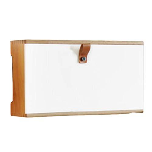 JIE KE Multifunción Caja ÓPTICA Cable WIIFI WiFi Ruta de enrutador Caja de Almacenamiento Montado en la Pared Punch-Libre de Madera Maciza Set-Top Box Socket Socket Blinding Box