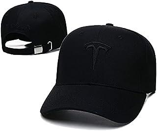 Yoursport Fit Tesla Hat Embroidered Logo Adjustable Unisex Travel Baseball Hat (Black Hat Black Logo)