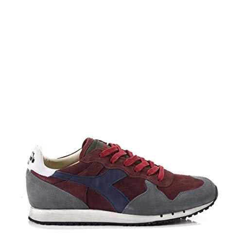 Diadora Heritage, Uomo, Trident S SW Cordovan, Suede / Pelle, Sneakers, Grigio, 42 EU