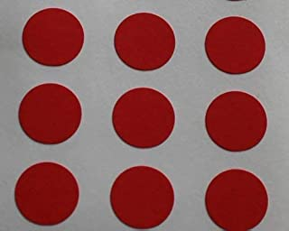 Minilabel 150 Labels, 10mm Diameter Round Circles, Self-Adhesive Stickers, Shapes Red